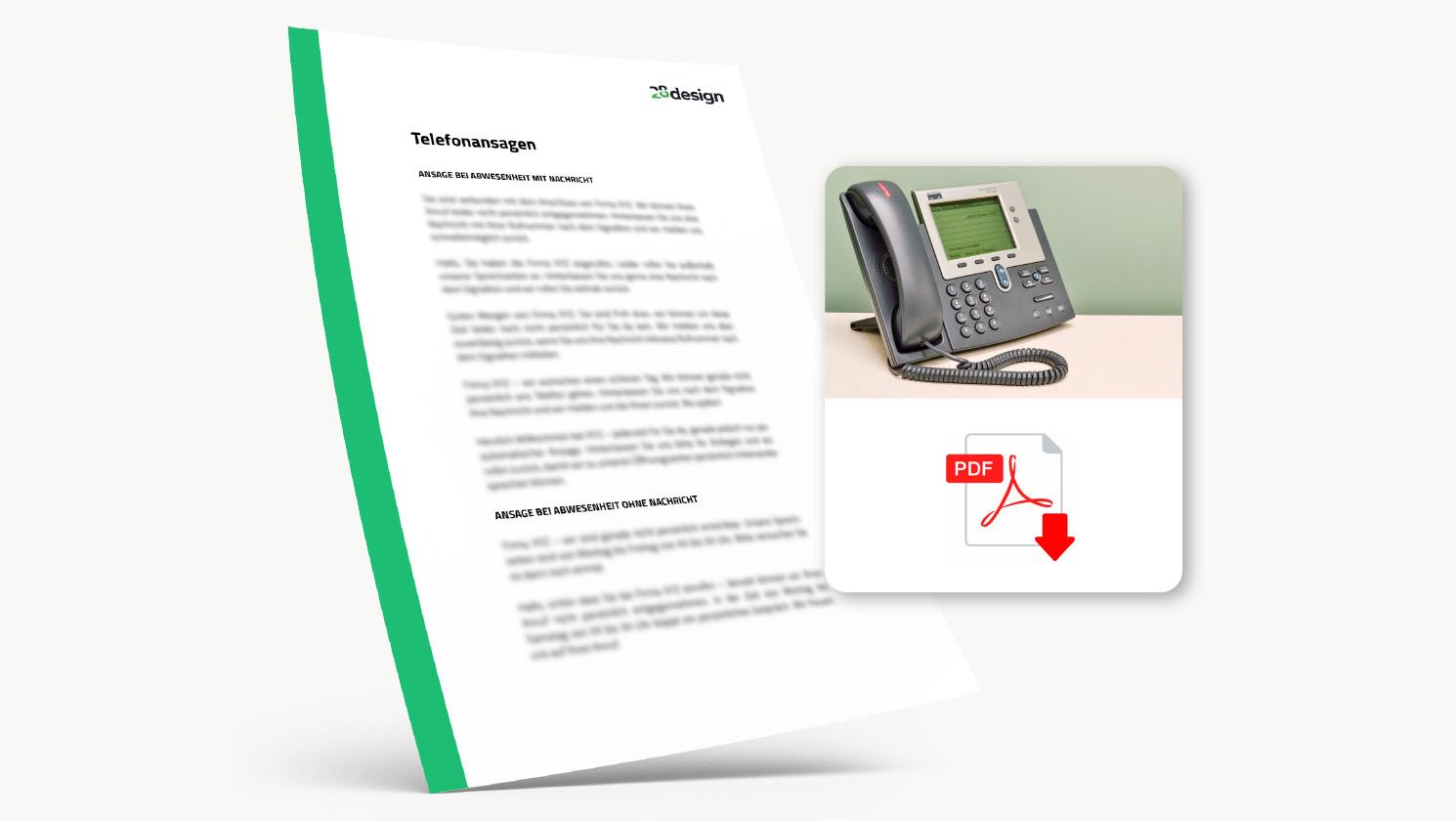 Textvorlagen für Anrufbeantworter & Telefonansagen 🤩